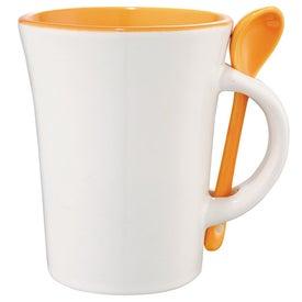 Company Dolce Ceramic Mug with Spoon