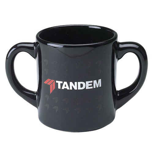 Promotional 10 Oz Double Handle Mugs With Custom Logo For