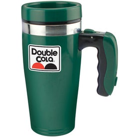 Logo Double Wall Insulated Flashlight Travel Mug