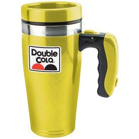 Monogrammed Double Wall Insulated Flashlight Travel Mug