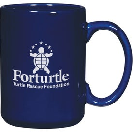 El Grande Mug (15 Oz., Black and Cobalt Blue)