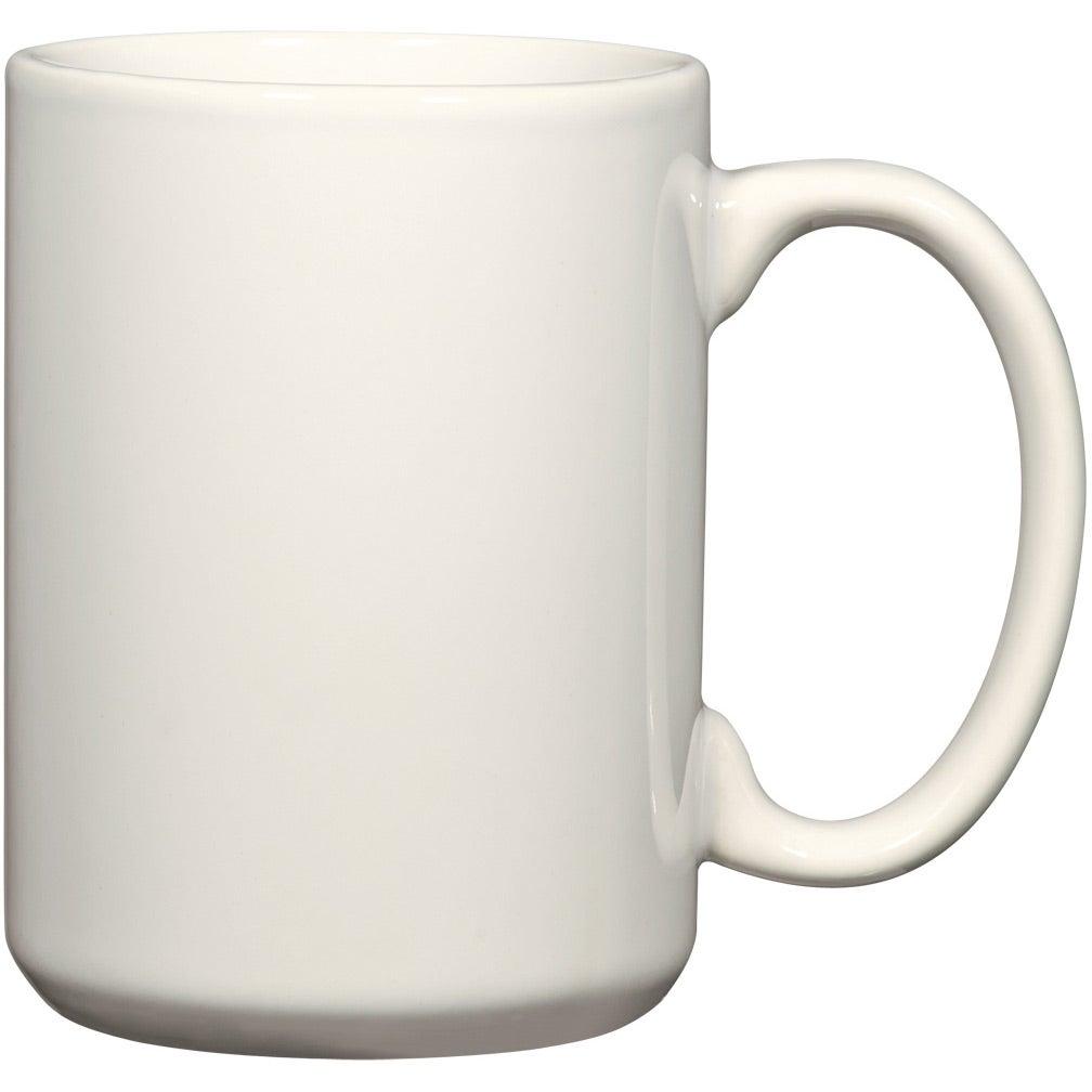 Promotional 15 Oz White El Grande Mugs With Custom Logo