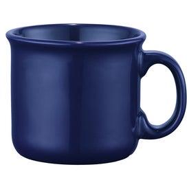 Monogrammed Fireside Ceramic Mug