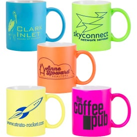 Fluorescent Matte Finish Ceramic Mugs (11 Oz.)
