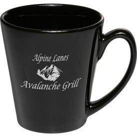 Glossy Ceramic Latte Coffee Mug (12 Oz., Colors)