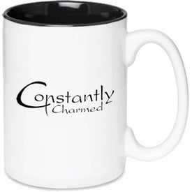 Glossy Two-Tone Ceramic Mug (15 Oz.)