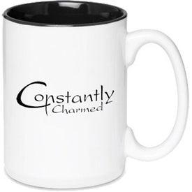 Glossy Two-Tone Ceramic Mug (15 Oz.)