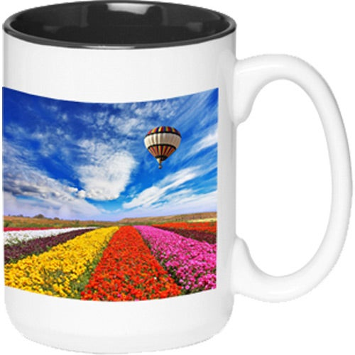 White / Black Glossy Two-Tone Photo Mug