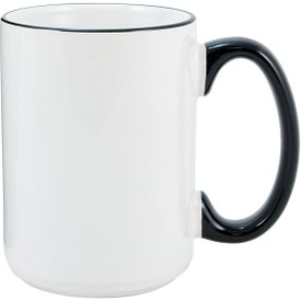 Heartland El Grande Ceramic Mugs (15 Oz., White/Black)
