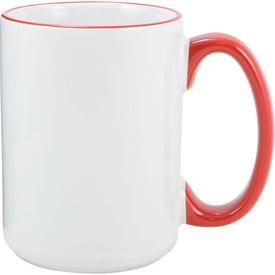 Heartland El Grande Ceramic Mug (15 Oz., White/Red)