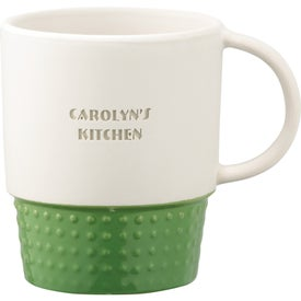 Monogrammed Hobnail Ceramic Mug
