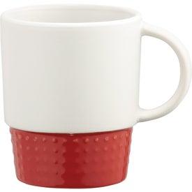 Logo Hobnail Ceramic Mug