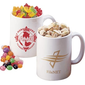 Personalized Impression Filled Coffee Mug Imprinted with Your Logo
