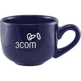 Monogrammed Jumbo Ceramic Mug