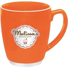Branded Large Red or Orange Color Bistro with Accent Mug