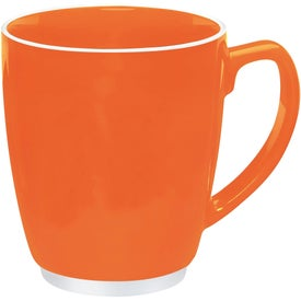 Large Red or Orange Color Bistro with Accent Mug for Your Company