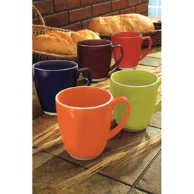 Large Red or Orange Color Bistro with Accent Mug for Your Organization