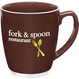 Large Color Bistro with Accent Mug with Your Slogan