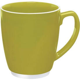 Large Color Bistro with Accent Mug Printed with Your Logo