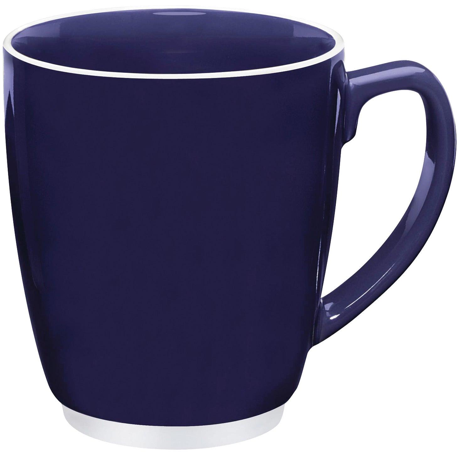 large color bistro with accent mug 16 oz custom ceramic mugs. Black Bedroom Furniture Sets. Home Design Ideas