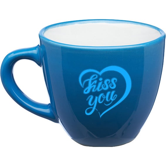 Blue / White Love Is All Espresso Mug