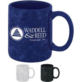 Marble Ironstone Mug Imprinted with Your Logo