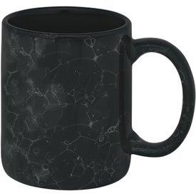 Branded Marble Ironstone Mug