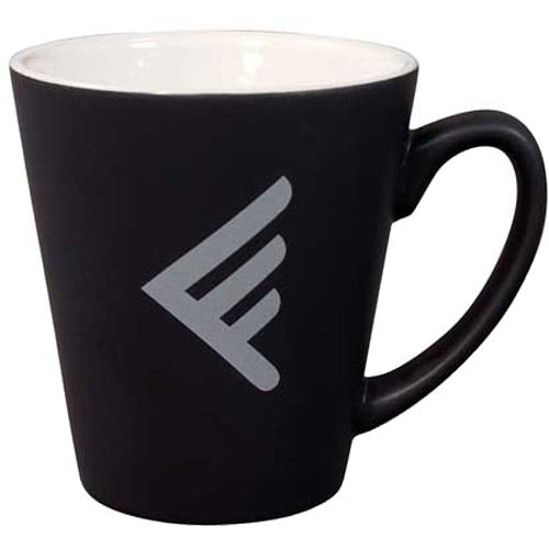 Black/White Matte 2-Tone Latte Mug