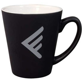 Black/White Matte 2-Tone Latte Mug (12 Oz.)