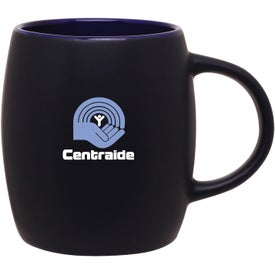 Matte Black Joe Ceramic Mug for Advertising