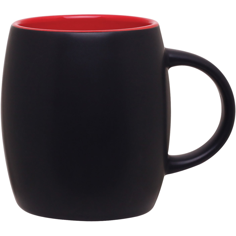 Beautiful Stoneware Coffee Mug White Aqua Brown Blue | eBay  |Black Stoneware Pottery Mug