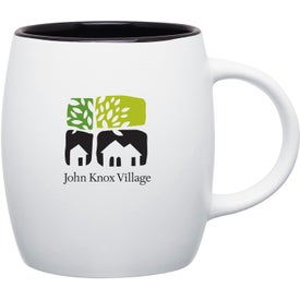 Imprinted Matte White Joe Ceramic Mug
