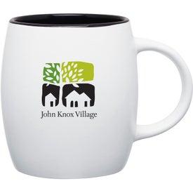 Imprinted Matte White Joe Ceramic Mug