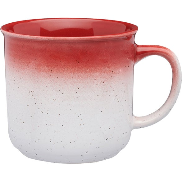 White / Red Montego Gradient Bistro Mug