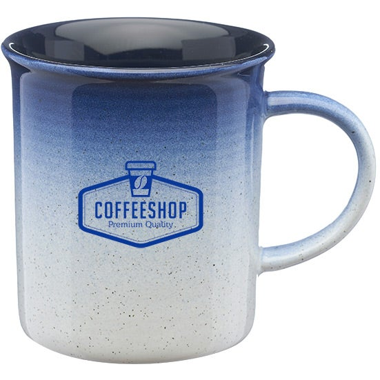White / Blue Montego Gradient Ceramic Mug