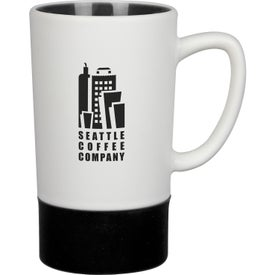 Monument Ceramic Mug with Silicone Accent (16 Oz.)