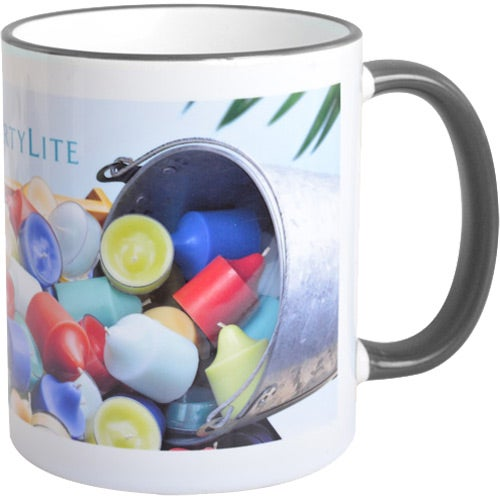 White / Black Mug with Colored Accent