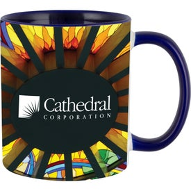 Mug with Colored Inner and Handle