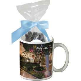 Mug with Dark Chocolate Almonds