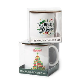 Mug with Hard Coaster Gift Set