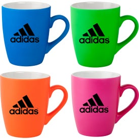 Neon Soft Touch Ceramic Mugs (12 Oz.)