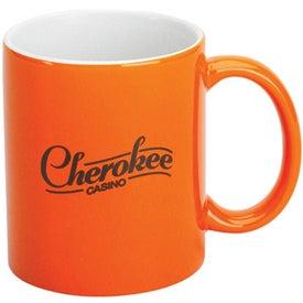 Orange Stoneware Mug for your School