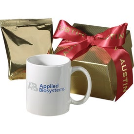 Printed Ovation Gift Boxed Ceramic Mug with Coffee