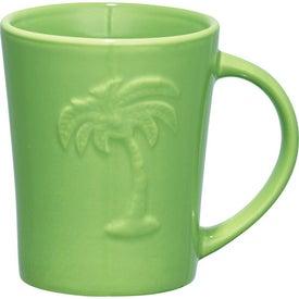 Monogrammed Palms Ceramic Mug