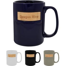 Peek-A-Bamboo Stoneware Mug (15 Oz.)