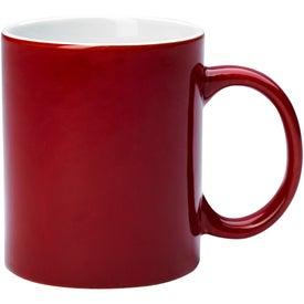 Personalized Reactive Glaze Stoneware Mug With C-Handle