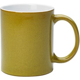 Reactive Glaze Stoneware Mug With C-Handle for Your Organization