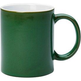 Promotional Reactive Glaze Stoneware Mug With C-Handle