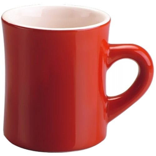 Red / White Red Ceramic Diner Mug