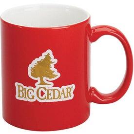 Promotional Red Stoneware Mug